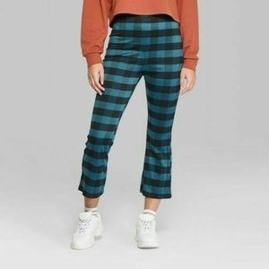 Wild Fable Women's Plaid Cropped Borrowed Pants -